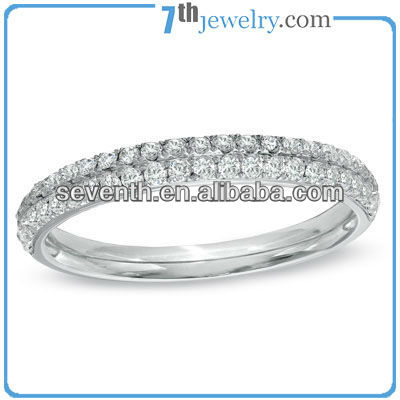 High Quality Jewelry Flat Raw CZ Diamond Ring Engagement/Wedding Brass Cooper Rings
