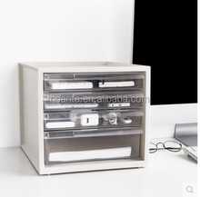 Office Clear Four Layers Desk Drawer Storage Box