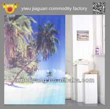 Coconut tree photo design landscape Polyester mold-proof shower curtain