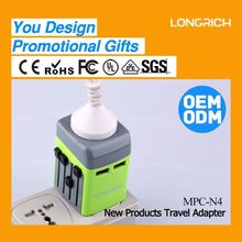 Top selling multi-nation travel adaptor,13a fused plug top