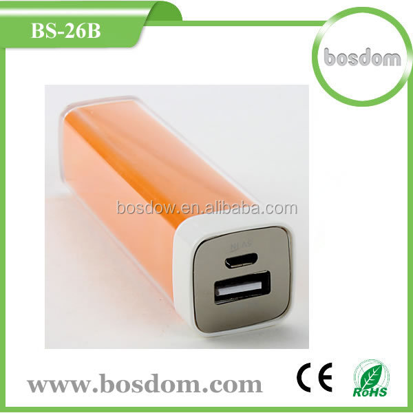 BS-26B 2600mah Power Bank 2600mah,Portable Power Pack External Battery Charger/Mobile Battery Charger Portable