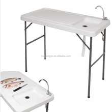 Fish Cleaning Table, Outdoor Table With Sink