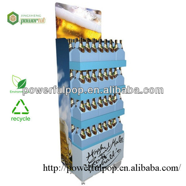 Cardboard deposit display stand for shop and store