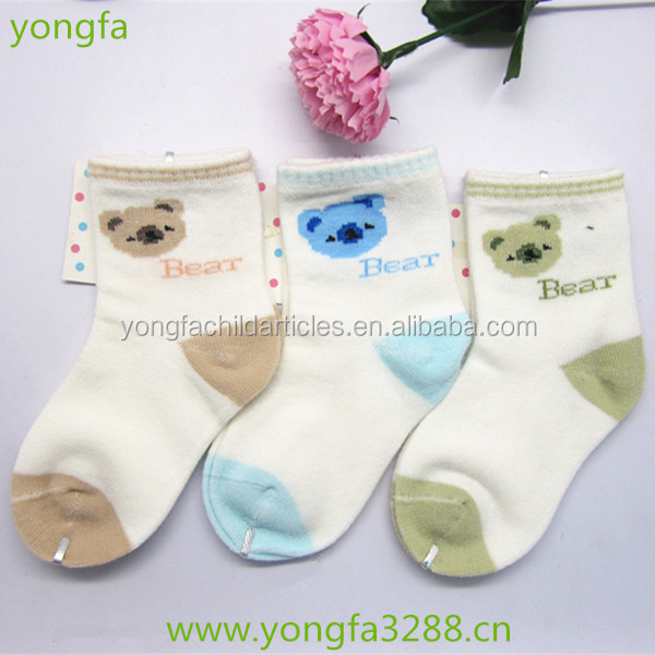 animal bear head character baby sock boots