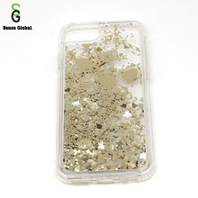 bling bling liquid quicksand silicone case phone cover for iphone 7/8