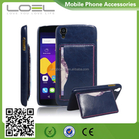 Wallet stand leather case for Alcatel idol 3, mobile phone case for Alcatel idol 3, case for Pop2/OT5042X
