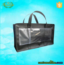 customized non woven large zippered tote bag