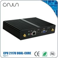 mini fanless x86 desktop computer with intel low cost pc