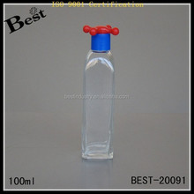 Tall Glass Bottles,Cute Plastic Cap, 50/100ML Vintage Rustic Pump Spray Bottles for Perfume,Lotion