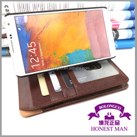 wallet style flip case for samsung galaxy note 3 case cover with stand function from china
