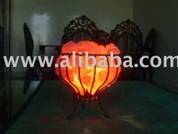 Salt Lamps, Metal Cage, Metal Basket, Tealights, Natural Lamps, Crafted Lamps, Animal Salt, Granulate, Running Salt