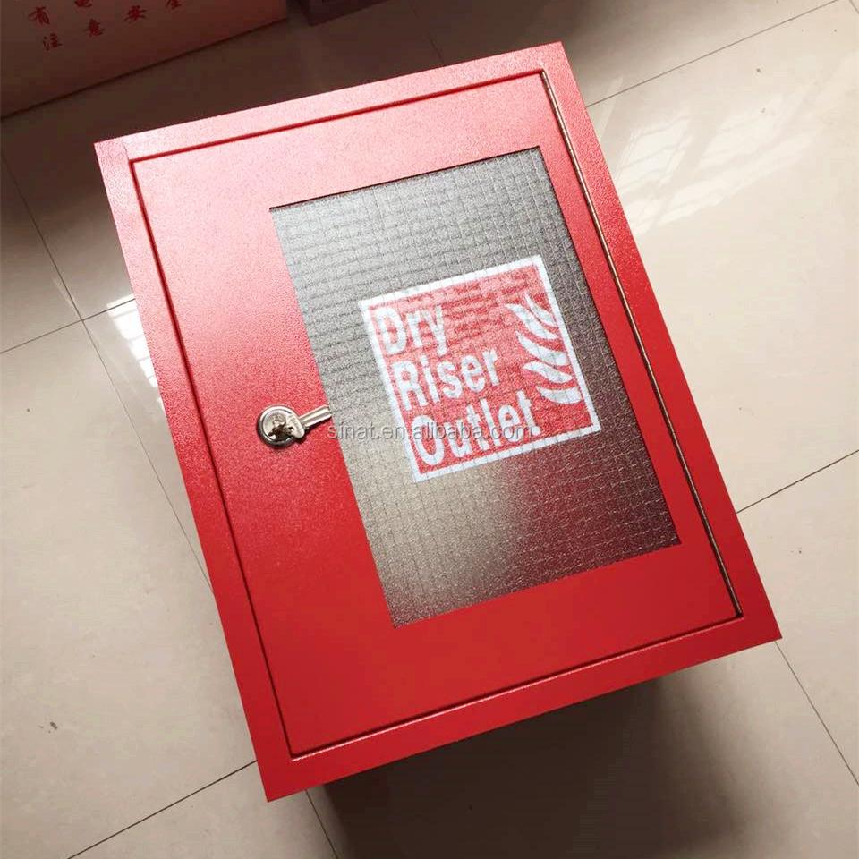 2 way breech inlet & dry riser inlet fire cabinet