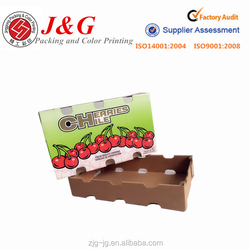 cherry fruit packaging box /color printed corrugated box for fruit