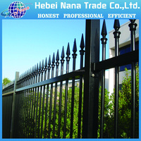 Cheap galvanized iron steel picket fencing