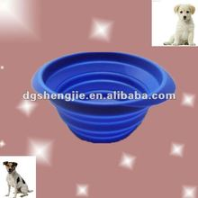 2012 new design silicone collapsible travel pet bowls