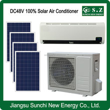 Off grid UK hot sale DC48V split wall best use solar small air conditioners