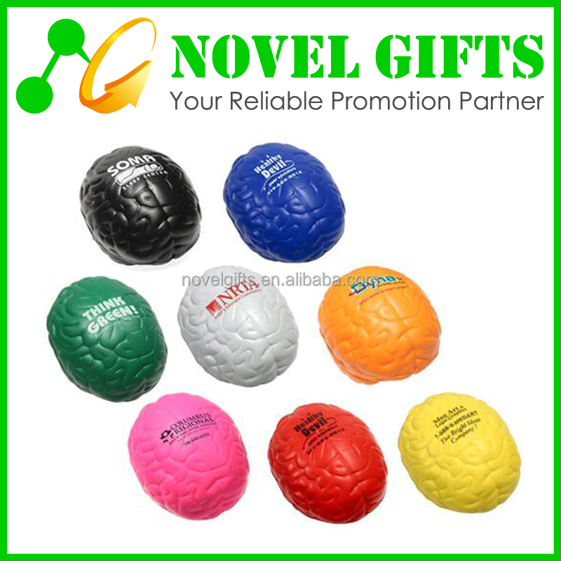 Promotion Gifts Brain Shape PU Stress Reliever Ball
