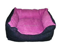 Whosale purple soft warm jeans waterproof dog bed dog kennel