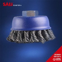 conical knotted steel wire cup brush for machine polsihing