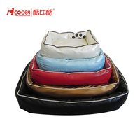 Acceptable Custom PU leather cheap pet beds for small dogs