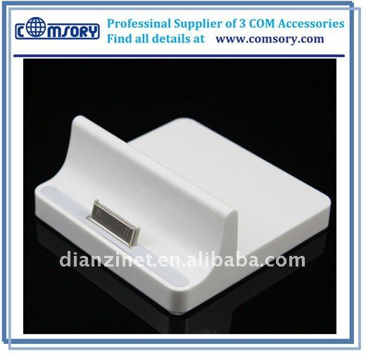 2011 HOT For iPad charger dock USB charger docking station for iPad 2 table stand with audio out jack