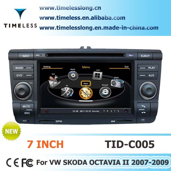2 Din Car Audio for Skoda YETI 2011 with built-in GPS, A8 chipset, RDS,BT,3G/Wifi, 20 dics momery(TID-C005)