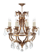 8 arms moroccan style antique brass candle new crystal chandelier