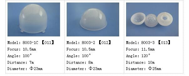 Factory supply good Quality pir fresnel lens diameter 25mm focus 11.5mm pir sensor fresnel lens 8003-3