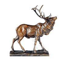 Antique Outdoor Life Size Bronze Deer