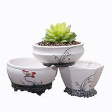 good quality hand painting cheap chinese ceramic flower pots with pedestal
