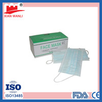 Non-Woven Disposable Face Mask Anti H7N9 Bird Flu