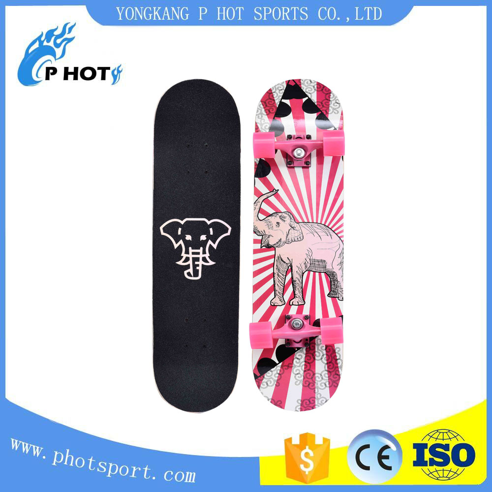 31'' Customized maple skateboard long board go pro fiberglass skateboard