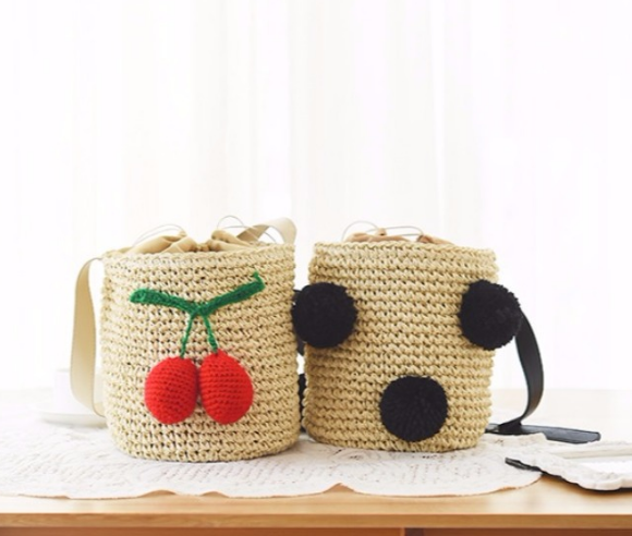 Hot selling sea grass straw bag summer holiday moroccan straw beach bag