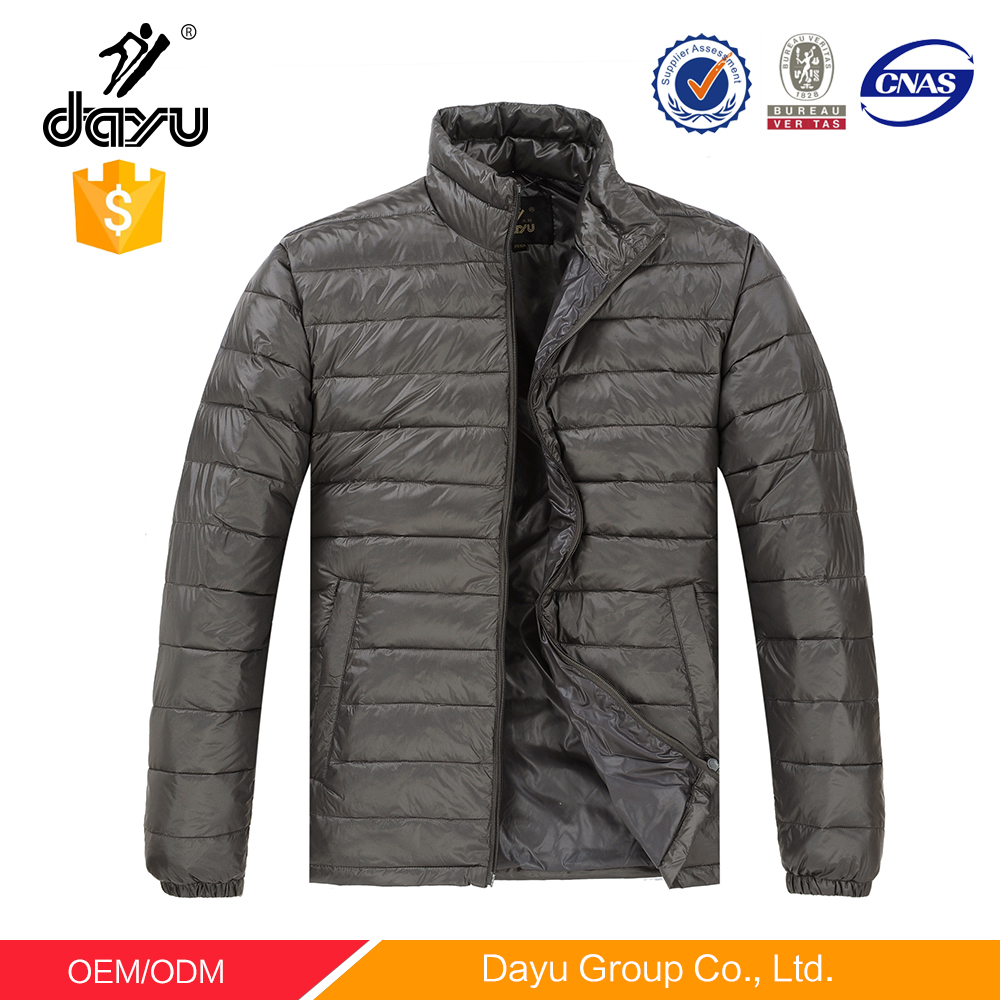 Men's jacket fashion foldable jackets slim denim long sleeve one piece winterJackets outwear cotton-padded downJacket