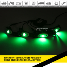 "2"" 9W RGB mini LED rock light, 2 inch Led Tail Dome Light, RGB led rock light for 10 wheeler truck for sale in subic"
