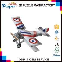 Kids diy paper aircraft toys 3d airplane