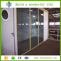 1 bedroom glass wall 20ft container house plan