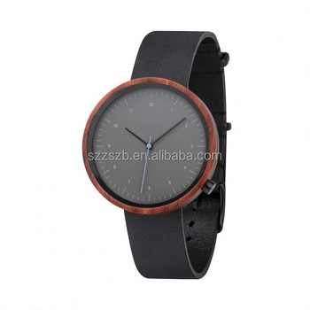 Bewell Customized Design OEM Manufacturer wooden watches with Leather Band Men's Wrist watch