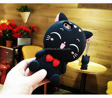 Cute cartoon shockproof silicone rubber gel case for apple iphone 7 7 plus, for iphone 7+ case silicone