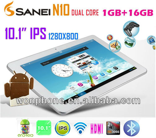 Sanei N10 Deluxe IPS 10.1inch Android 4.0 Tablet PC AllWinner A10 1024x800