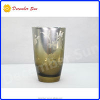 high quality exclusive elegant silver frosted glass bath cup tumbler
