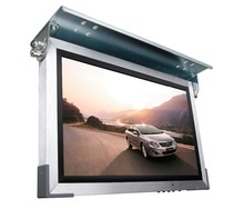 19 inch wall mount or ceiling mount option lcd cab car taxi advertising screen