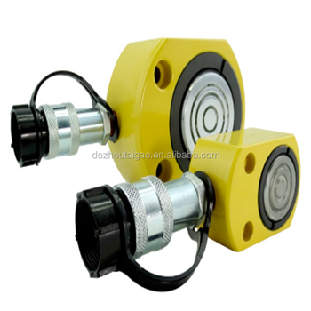 High quality single acting flat hydraulic lifting cylinder