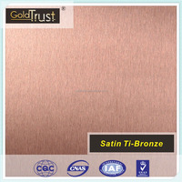 bronze colored finish stainless steel no.4 brush /satin in stainless steel per price kg for elevator carbin