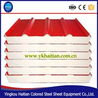 Color Steel Polyurethane Sandwich panel for activity room