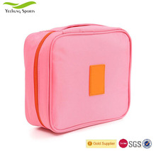 Pink Convenient Waterproof Cosmetic Bag Portable Toiletries Bag Wash Bag With Compartments