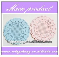 silicone flower coffee pad