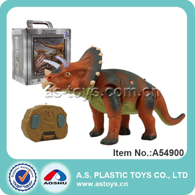 Newest plastic rc dinosaur toys with light and sound