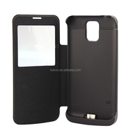 New Design 3800mAh Leather Flip Battery Case for Samsung Galaxy S5