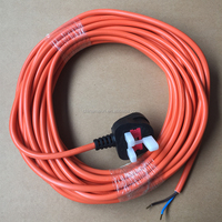UK power cord cables with BS non-rewirable fuse plug
